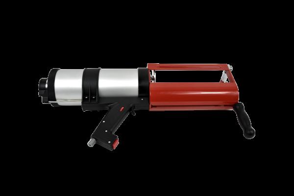 Kröger 2-K Kartuschenpresse TS499X, Druckluft Klebstoffpistole, 750+750ml